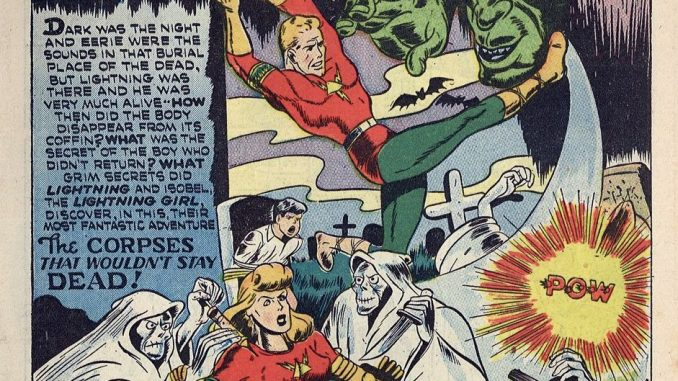 Lash Lightning is a golden age superhero that has fallen into the public domain.