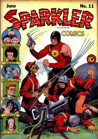 Spark Man starred in Sparkler Comics