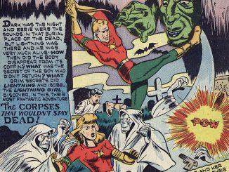 Lash Lightning is a golden age superhero that has fallen into the public domain.